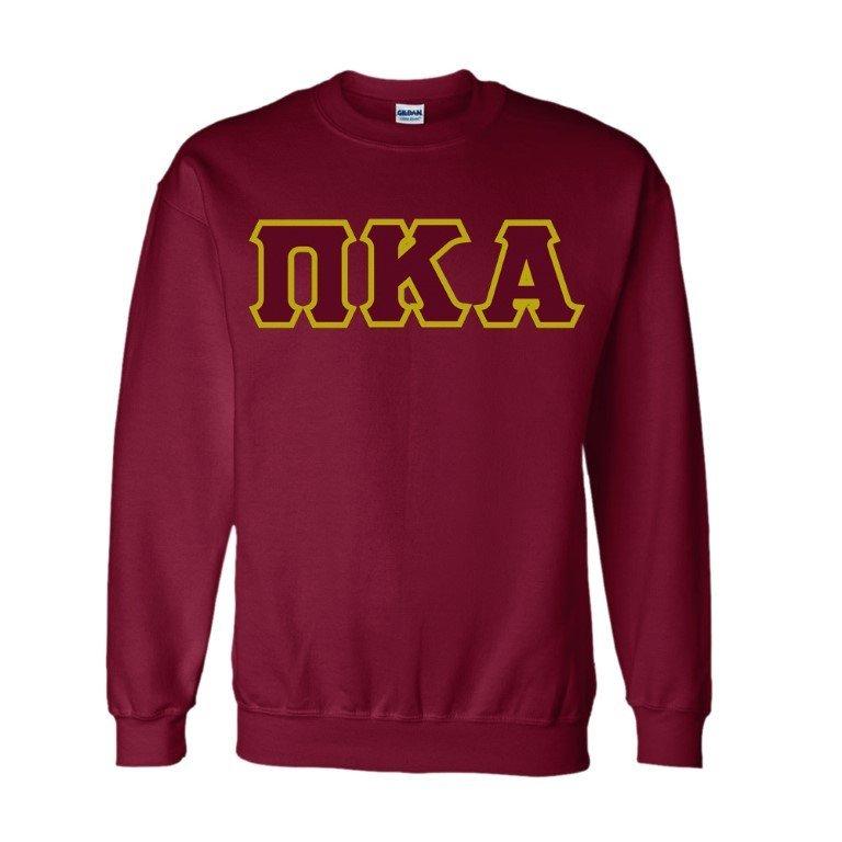 Pi Kappa Alpha Sewn Lettered Crewneck Sweatshirt