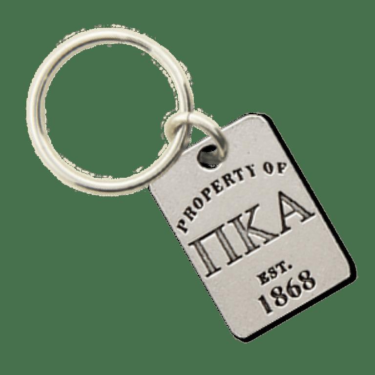 Pi Kappa Alpha Property of Tag Keychain - CLOSEOUT