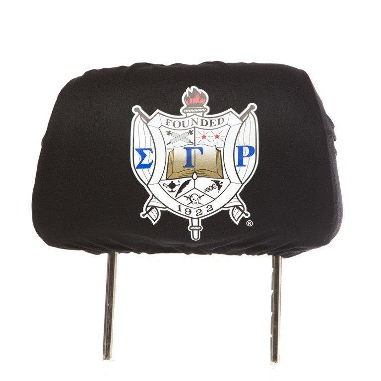 Sigma Gamma Rho Black Car Seat Headrest Cover