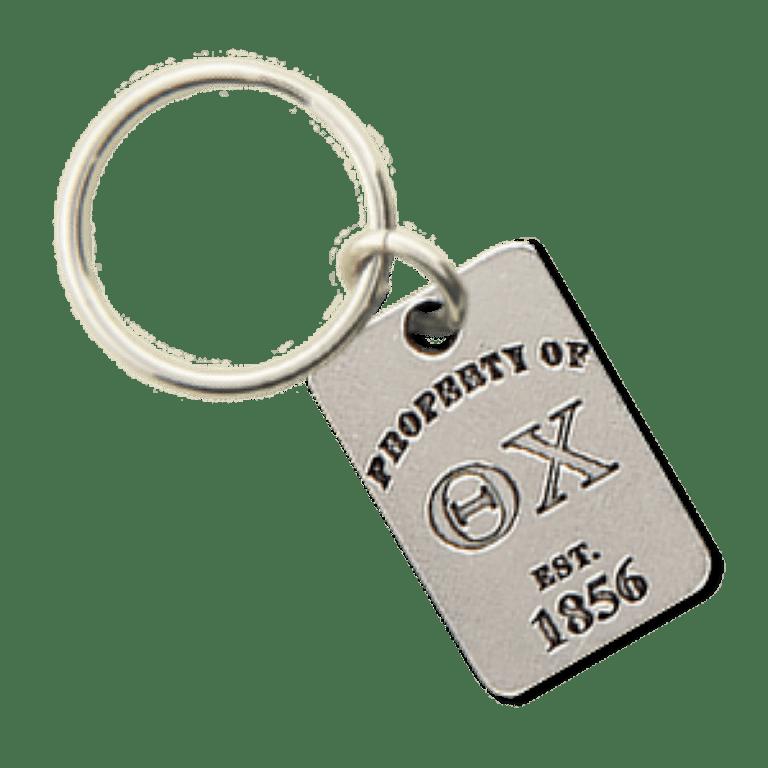 Theta Chi Property of Tag Keychain