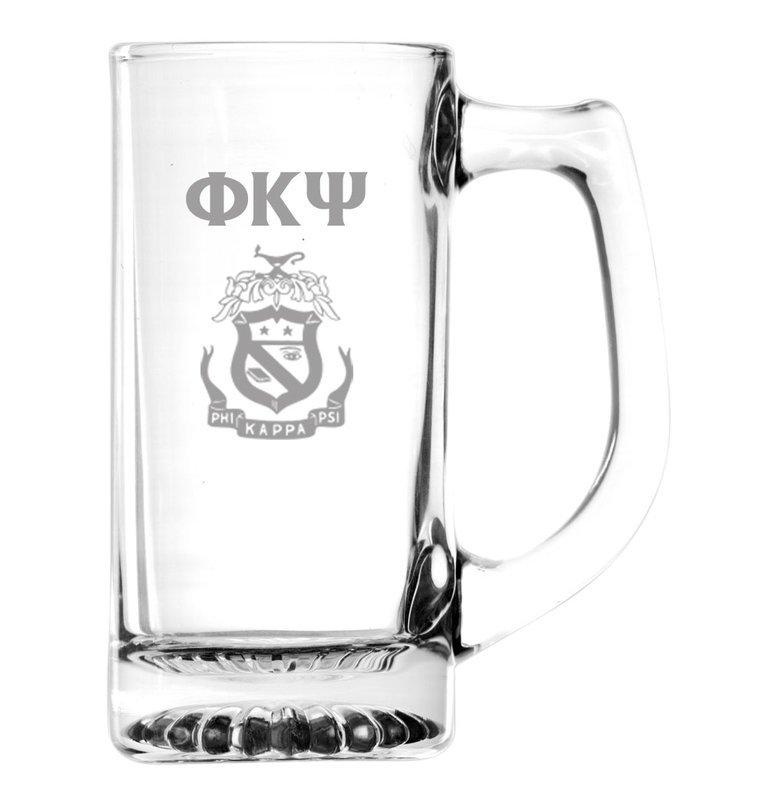 Phi Kappa Psi Glass Engraved Mug
