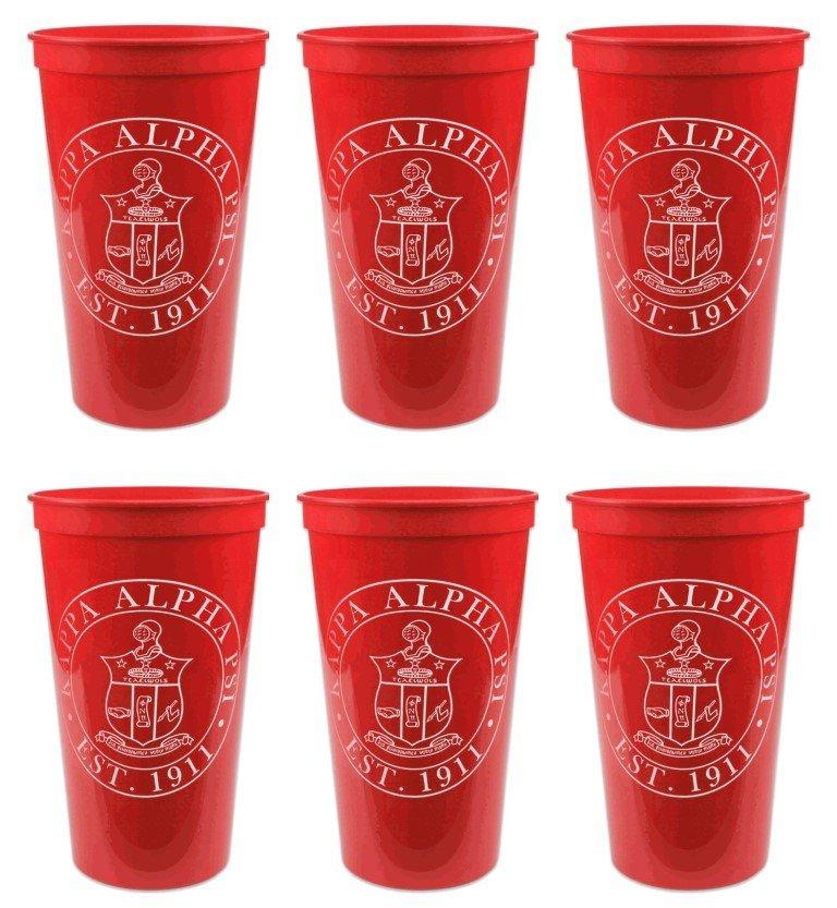Kappa Alpha Psi Set of 6 Big Plastic Stadium Cups