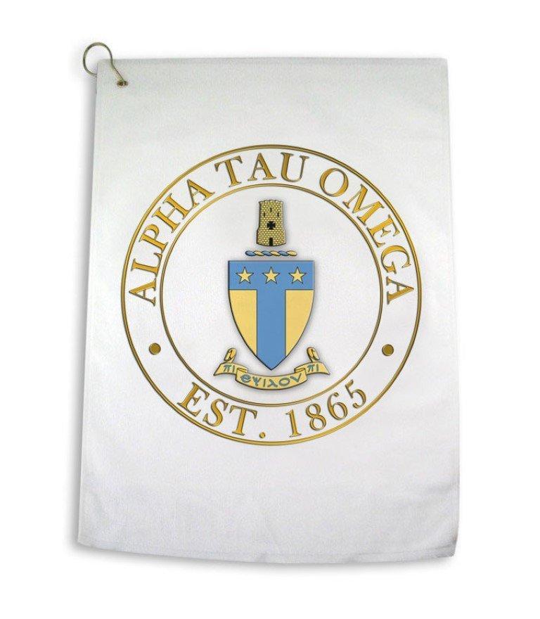 Greek Crest Golf Towel