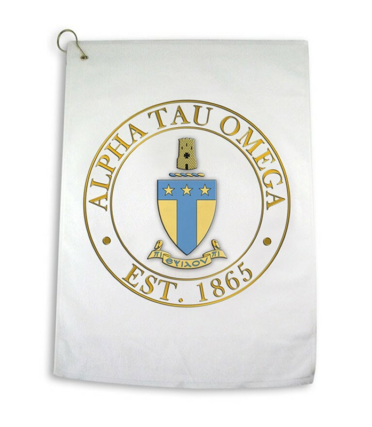 Greek Crest Golf Towel