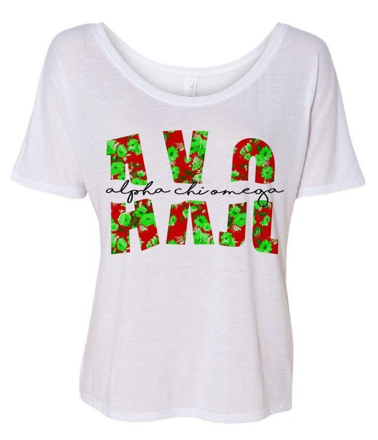 Alpha Chi Omega Slouchy T-Shirt