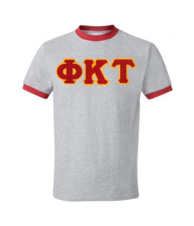 DISCOUNT- Phi Kappa Tau Lettered Ringer Shirt