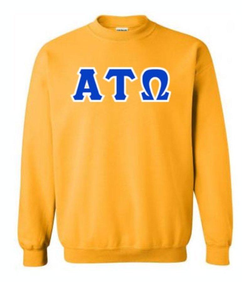 Alpha Tau Omega Lettered Crewneck Sweatshirt