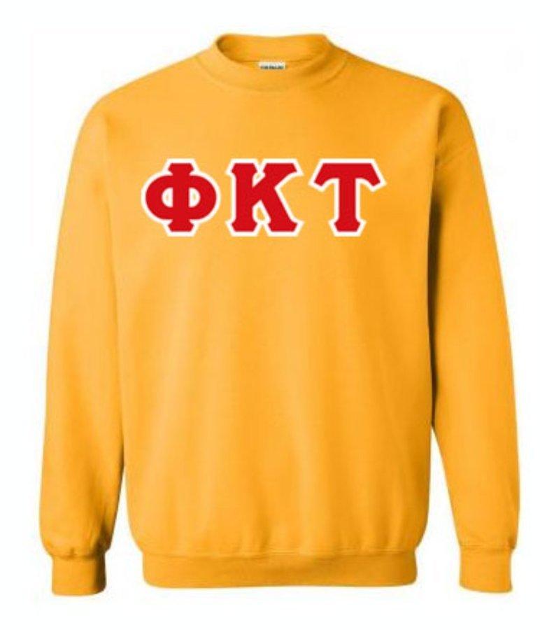 Phi Kappa Tau Lettered Crewneck Sweatshirt