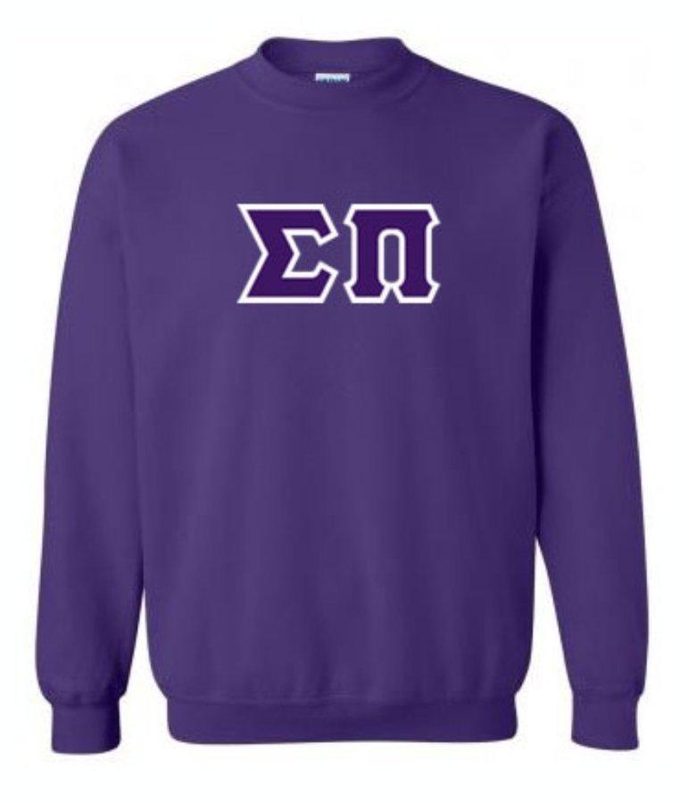Sigma Pi Sewn Lettered Crewneck Sweatshirt