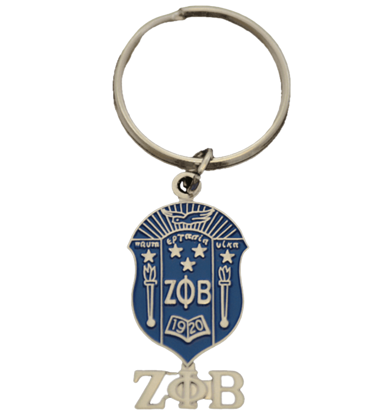 Zeta Phi Beta Sheild Keychain