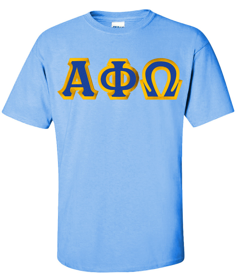 $15 Alpha Phi Omega Custom Twill Short Sleeve T-Shirt