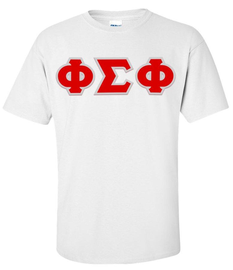 Phi Sigma Phi Greek Letter Twill Tee
