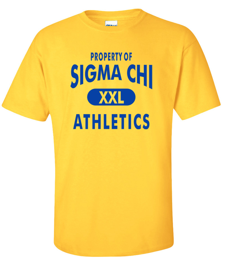 Sigma Chi Property Of Athleticss