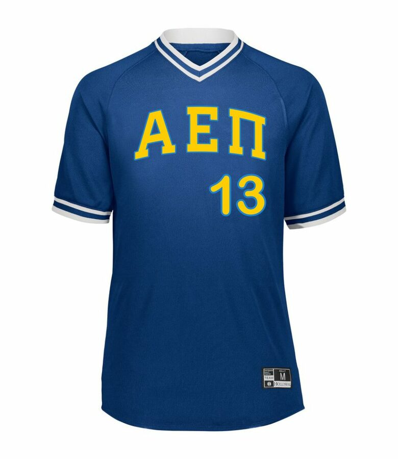 Alpha Epsilon Pi Retro V-Neck Baseball Jersey