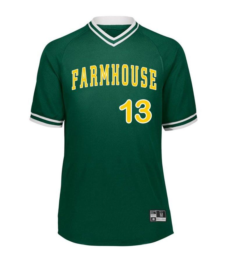 FARMHOUSE Retro V-Neck Baseball Jersey