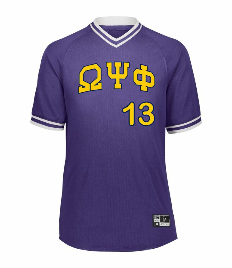 Omega Psi Phi Retro V-Neck Baseball Jersey