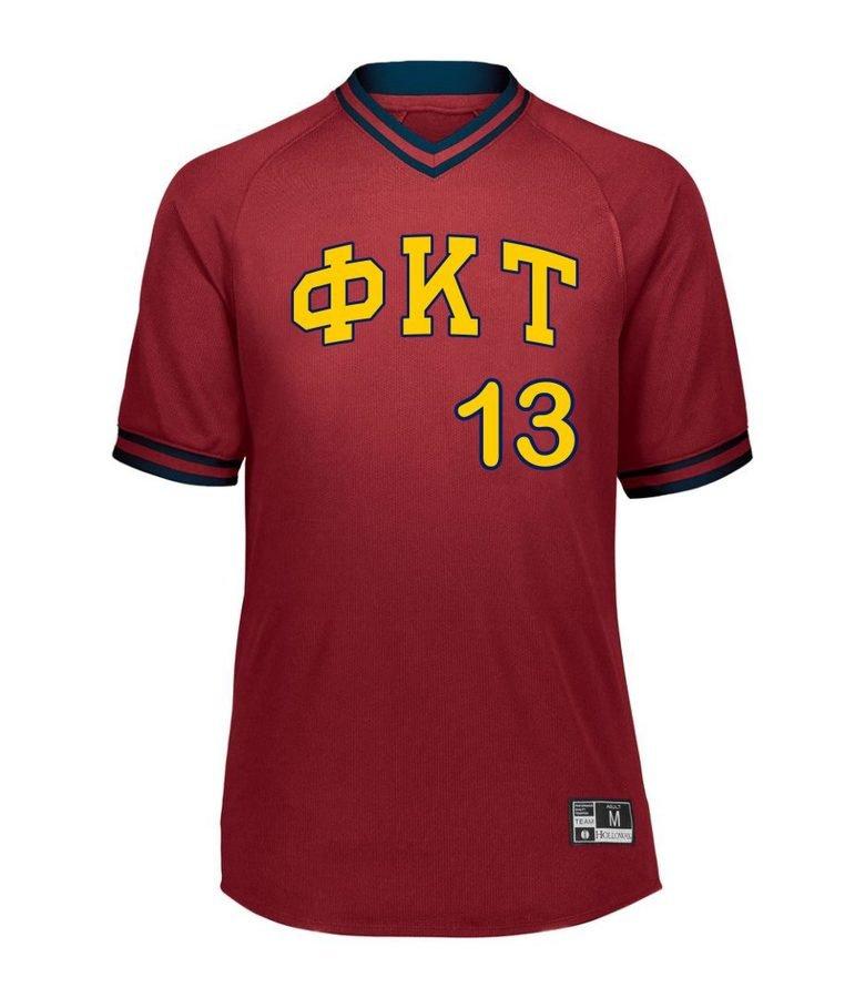 Phi Kappa Tau Retro V-Neck Baseball Jersey