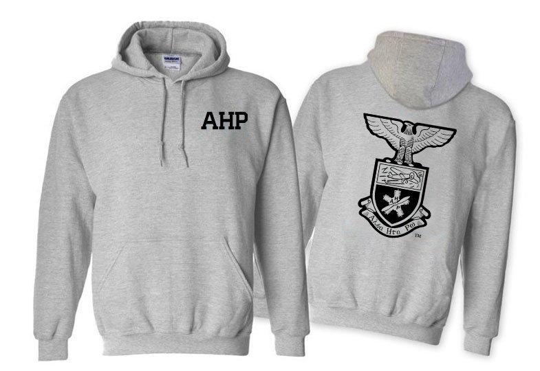 Alpha Eta Rho World Famous Crest - Shield Printed Hooded Sweatshirt- $35!