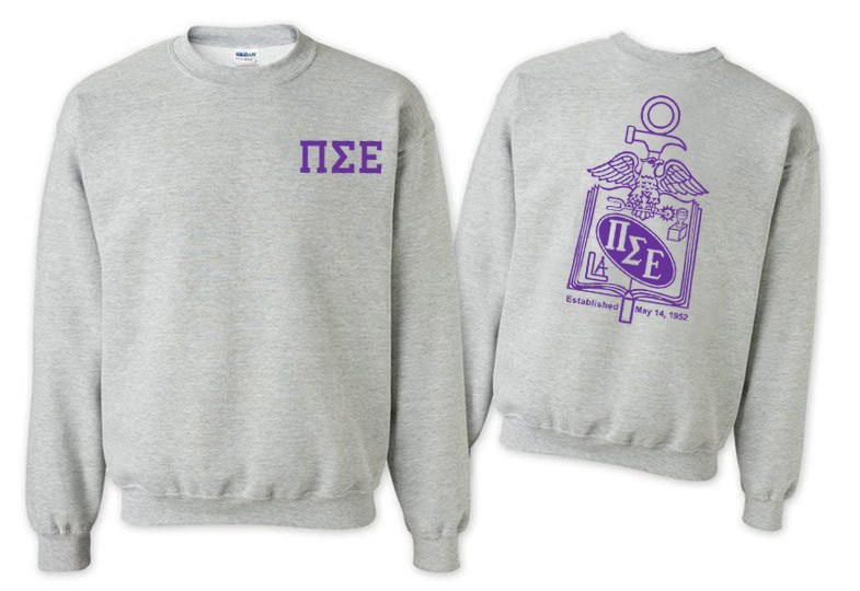 Pi Sigma Epsilon World Famous Crest - Shield Crewneck Sweatshirt- $25!