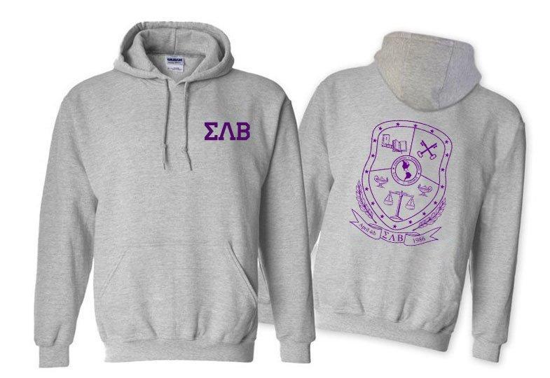 Sigma Lambda Beta World Famous Crest - Shield Printed Hooded Sweatshirt- $35!