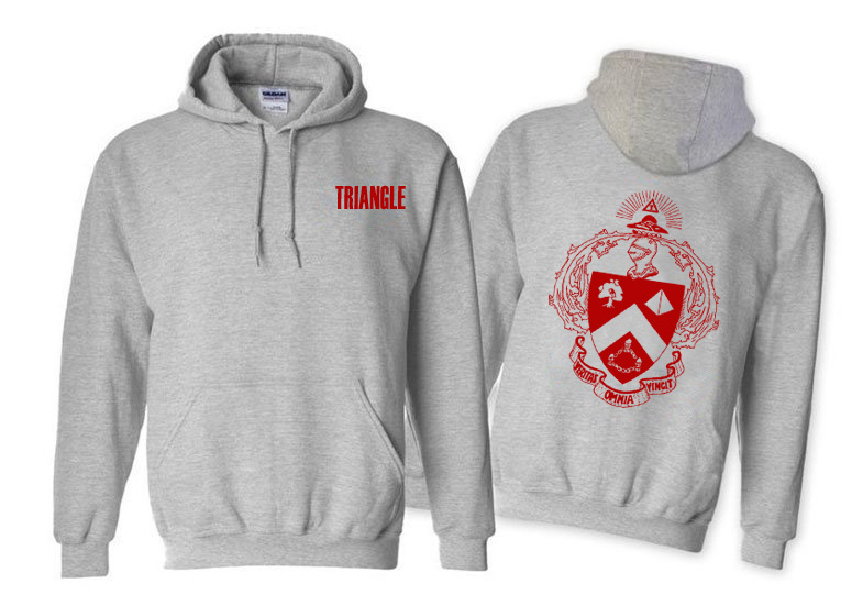 Triangle World Famous Crest - Shield Printed Hooded Sweatshirt- $35!