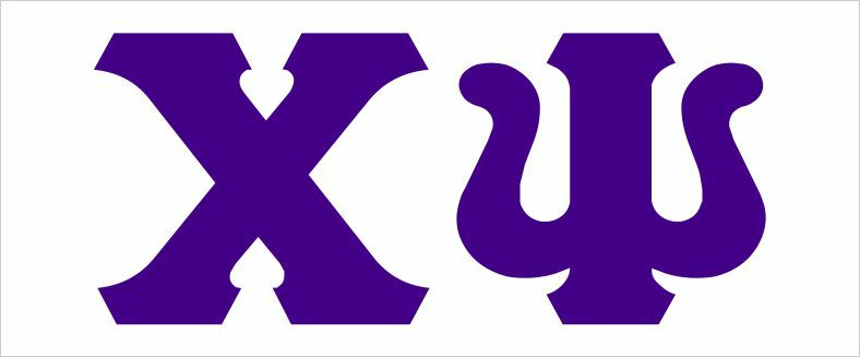 Chi Psi Big Greek Letter Window Sticker Decal