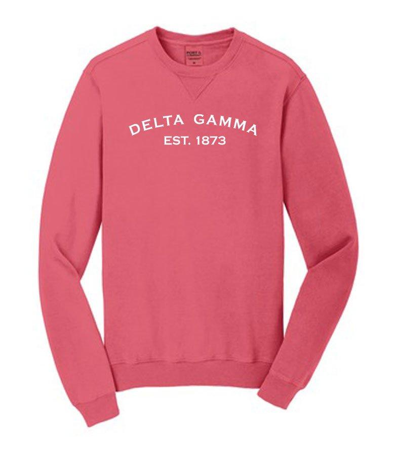 Delta Gamma Pigment Dyed Crewneck Sweatshirt