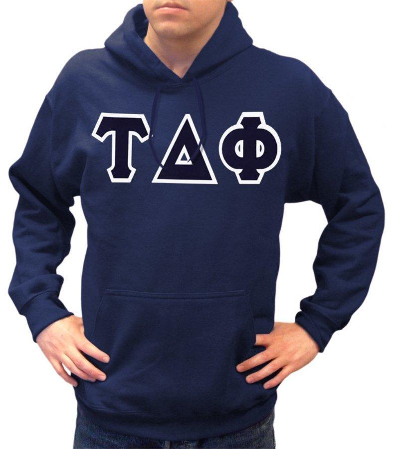 Tau Delta Phi Lettered Hooded Sweatshirt