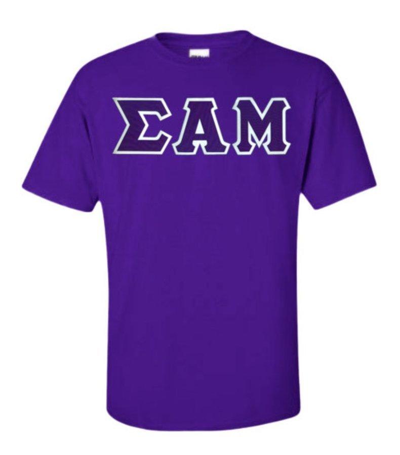 DISCOUNT Sigma Alpha Mu Lettered T-shirt
