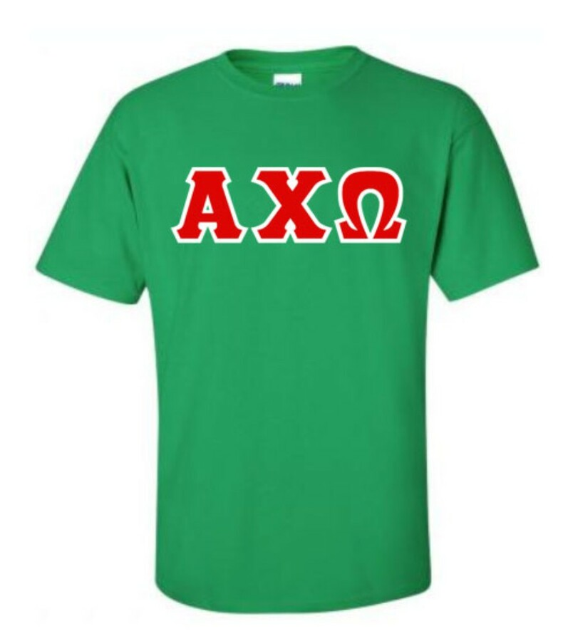 Alpha Chi Omega Lettered Shirts