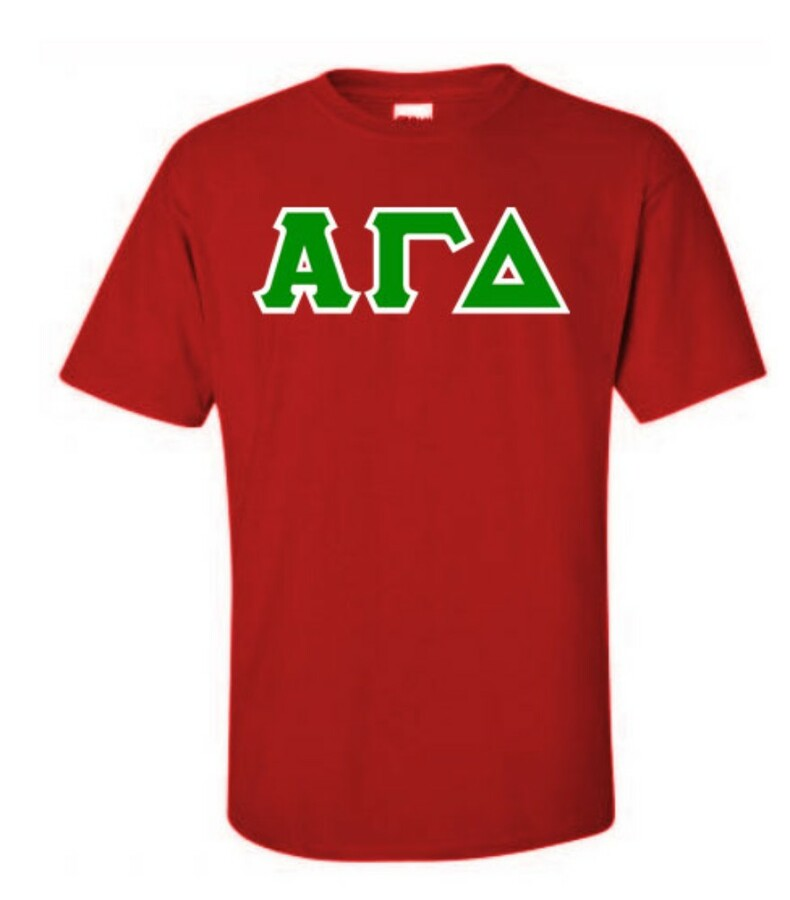 Alpha Gamma Delta Lettered Shirts