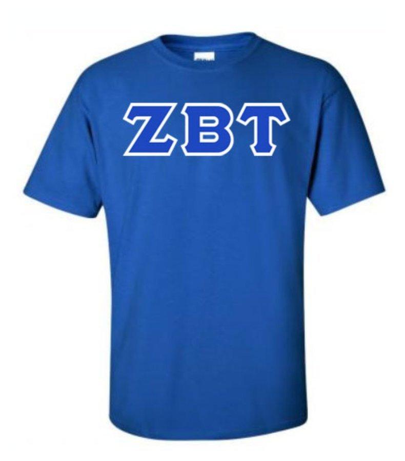 Zeta Beta Tau Lettered T-Shirt