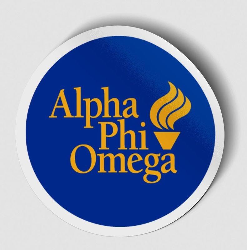 Alpha Phi Omega Logo Round Decal