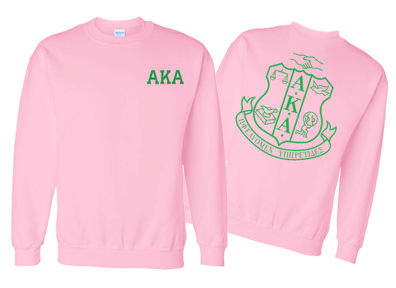 AKA World Famous Crest - Shield Crewneck Sweatshirt- $25! - MADE FAST!
