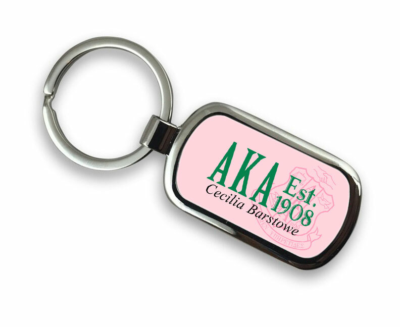Alpha Kappa Alpha Chrome Crest - Shield Key Chain