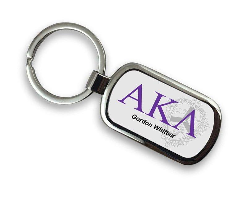 Alpha Kappa Lambda Chrome Crest - Shield Key Chain