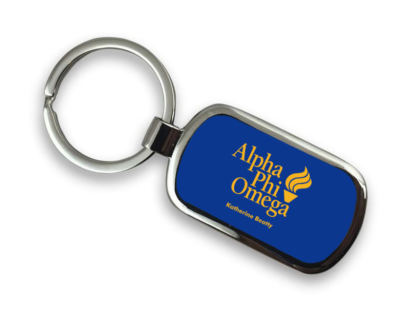 Alpha Phi Omega Chrome Mascot Key Chain
