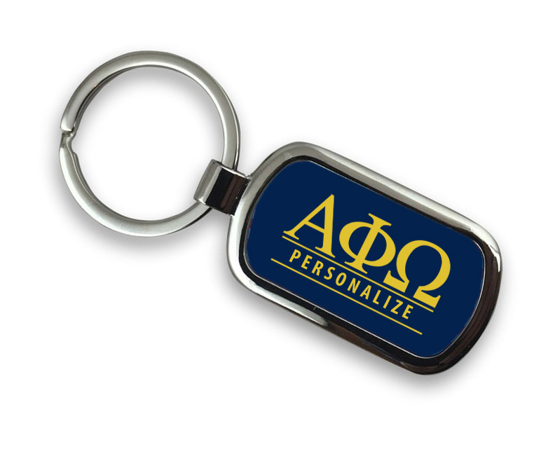 Alpha Phi Omega Chrome Custom Keychain
