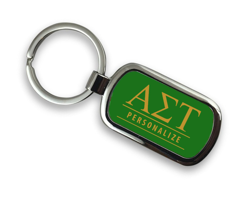 Alpha Sigma Tau Chrome Custom Keychain