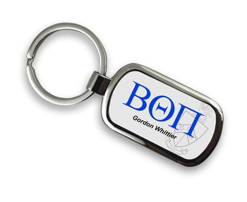 Beta Theta Pi Chrome Crest - Shield Key Chain