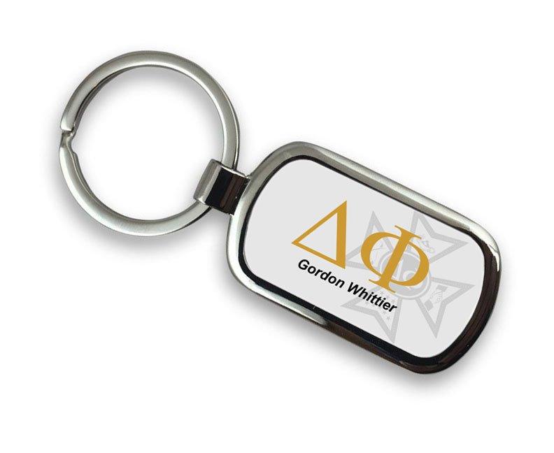 Delta Phi Chrome Crest - Shield Key Chain