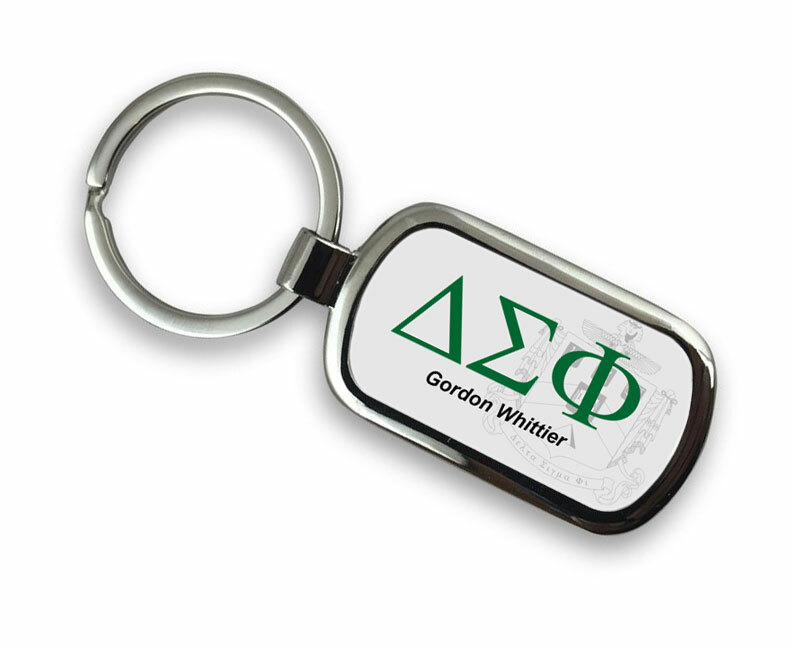 Delta Sigma Phi Chrome Crest Key Chain