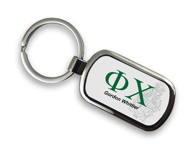 Phi Chi Chrome Crest - Shield Key Chain