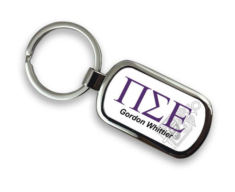 Pi Sigma Epsilon Chrome Crest - Shield Key Chain
