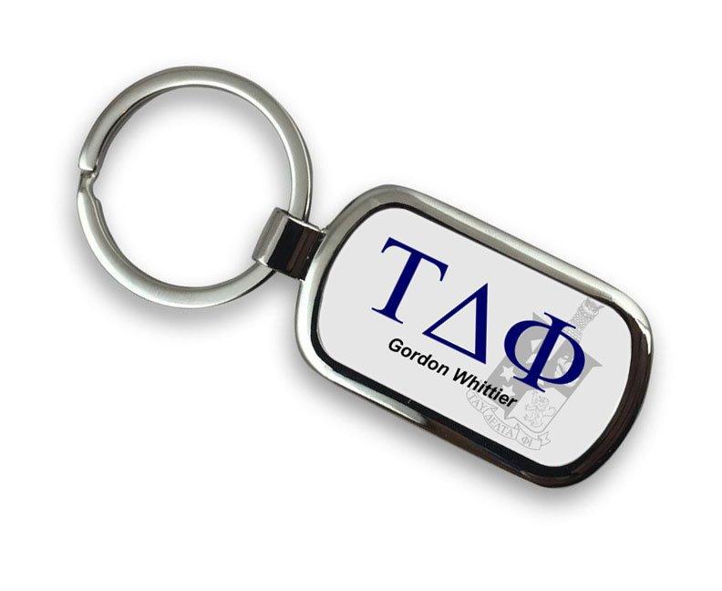 Tau Delta Phi Chrome Crest - Shield Key Chain