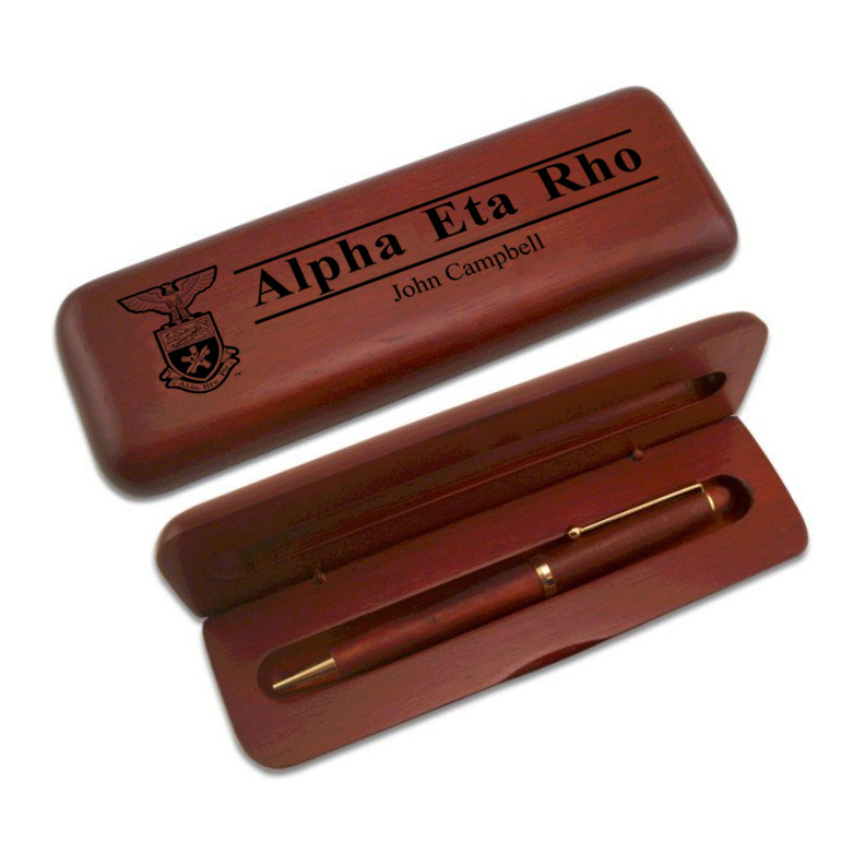 Alpha Eta Rho Wooden Pen Set