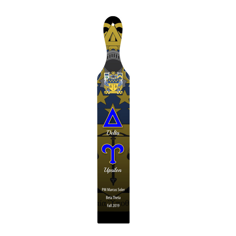 Delta Upsilon Custom Full Color Paddle