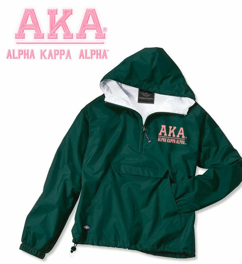 Alpha Kappa Alpha Greek Letter Anoraks SALE $45.95.   Greek Gear®