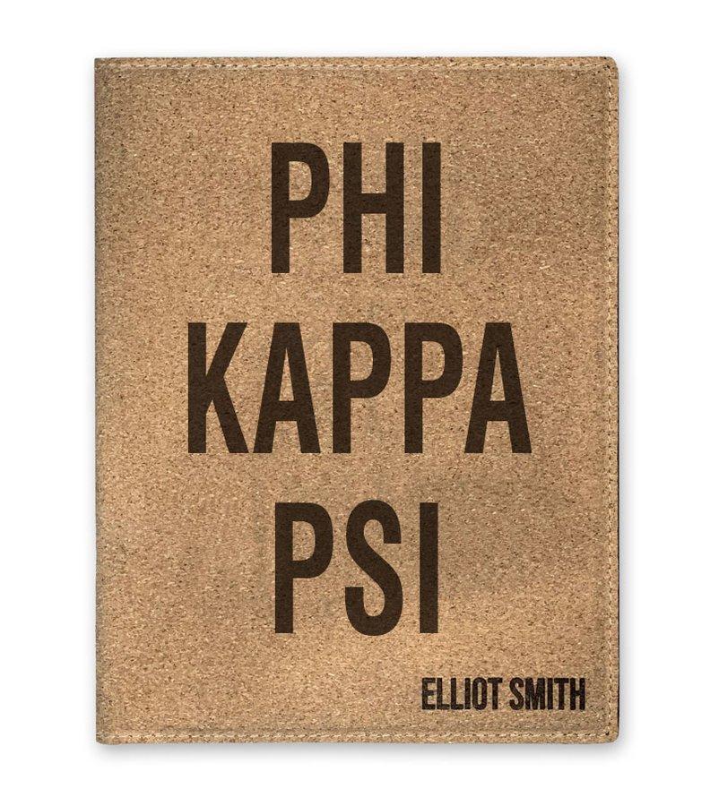 Phi Kappa Psi Cork Portfolio with Notepad