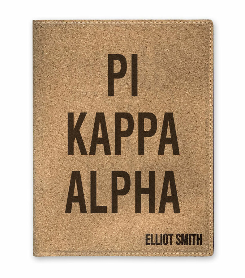 Pi Kappa Alpha Cork Portfolio with Notepad